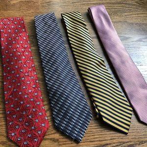 Mixed Lot Men's Silk Ties | Bundle of 4